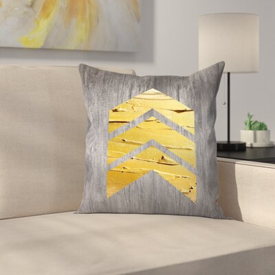 Chevrons Wood Throw Pillow Size: 14 x 14, Color: White
