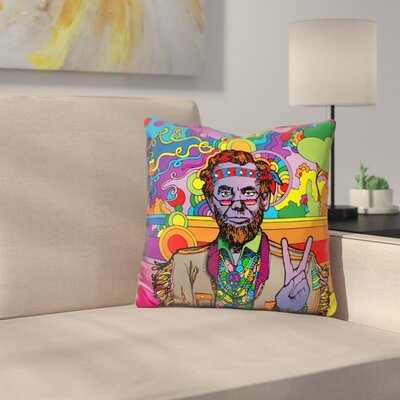 Psychedelic Abe Throw Pillow