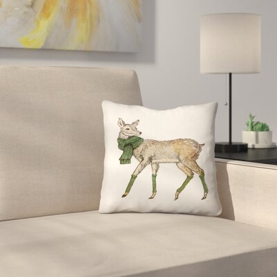 Deer Throw Pillow Size: 16 x 16