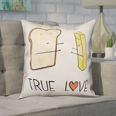 Aquilae Bread and Butter Love Throw Pillow