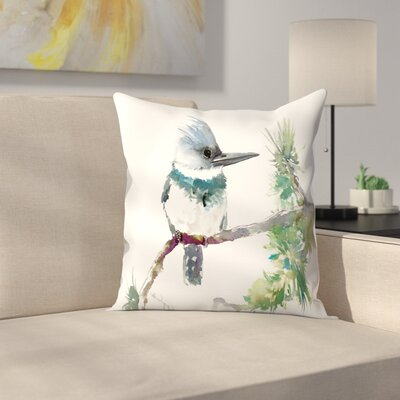 Belted Kingfisher 2 Throw Pillow Size: 16 x 16