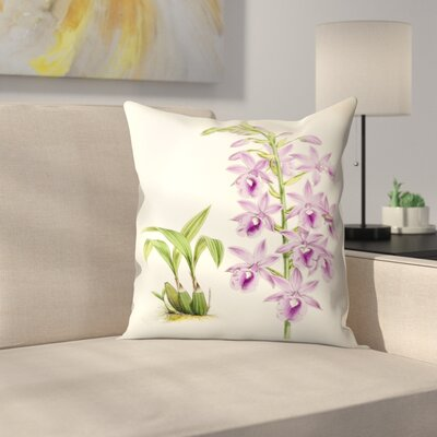 Fitch Orchid Calanthe Veitchii Throw Pillow Size: 18 x 18