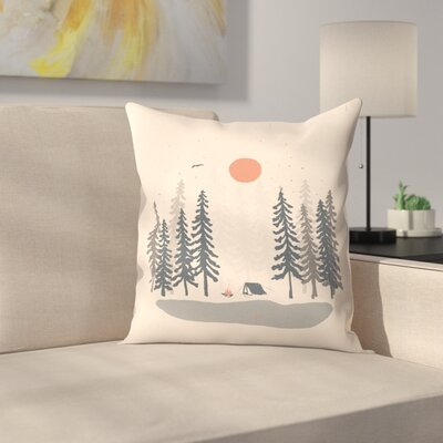 Feeling Small in The Morning Throw Pillow Size: 20 x 20