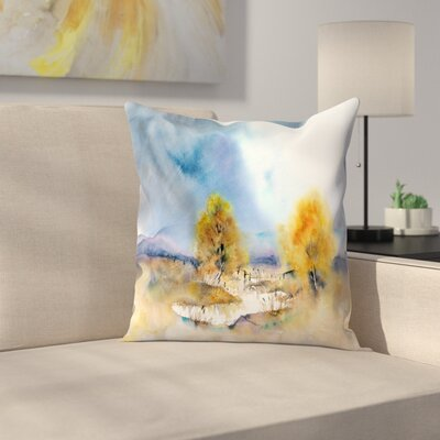 Sun Throw Pillow Size: 14 x 14