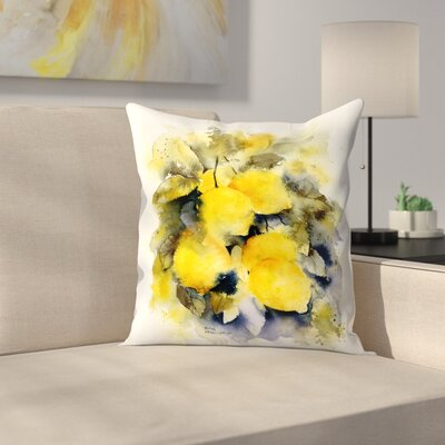 Lemon Tree Throw Pillow Size: 14 x 14