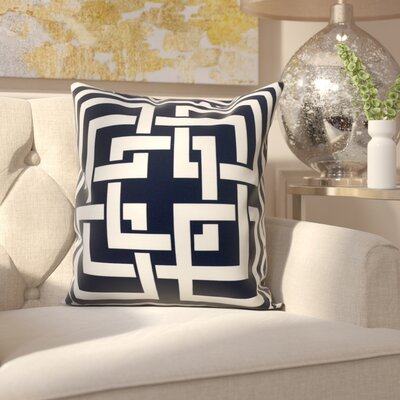 Clarisse Throw Pillow Color: Navy, Size: 26 x 26