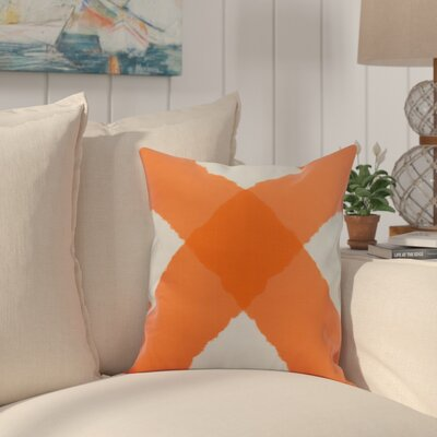 Harriet X Mark Throw Pillow Color: Orange, Size: 16 x 16