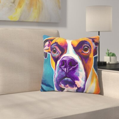 Boxer Koda Throw Pillow