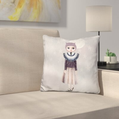 Sq Miss Wendy Owl Throw Pillow