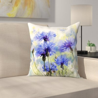 Cornflowers Throw Pillow Size: 20 x 20