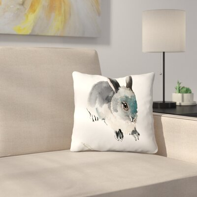 Bunny 3 Throw Pillow Size: 16