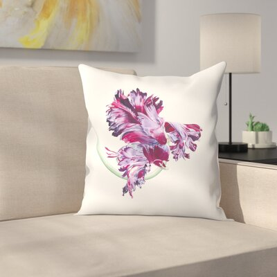 Black Parrot Tulip No 1 Throw Pillow Size: 18 x 18