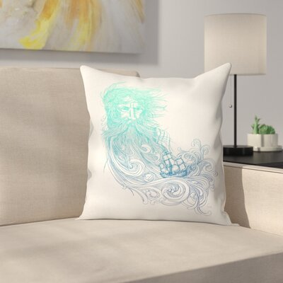 Sea Beard Throw Pillow Size: 18 x 18