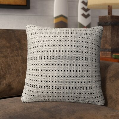 Liberty Hill Indoor/Outdoor Throw Pillow Color: Black/Tan, Size: 18 H x 18 W
