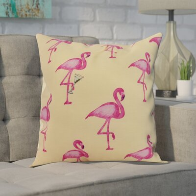Carmack Print Throw Pillow Color: Yellow, Size: 26 x 26