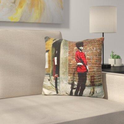 Pissing Guard Throw Pillow