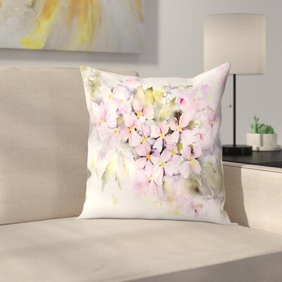 Clematis Montana Throw Pillow Size: 20 x 20