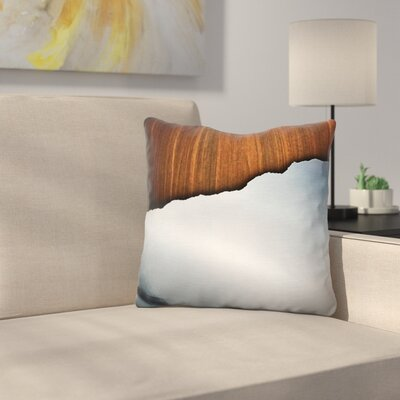 Wooden Brushed Metal Throw Pillow