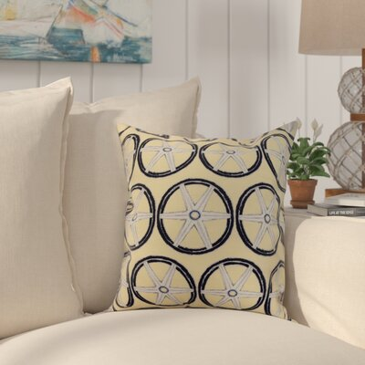 Harriet Nautical Geo Lines Geometric Throw Pillow Color: Yellow, Size: 18 x 18