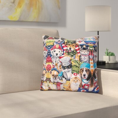 Working Paws Throw Pillow