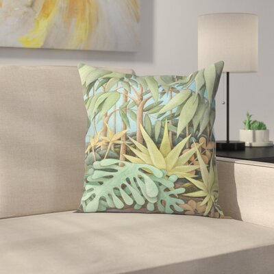 Jungle2 Throw Pillow Size: 18 x 18