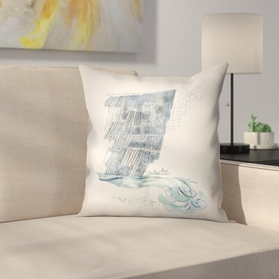 Cliffs Throw Pillow Size: 14 x 14