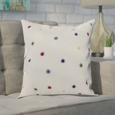 Carmanor Dots Pillow Color: Green, Size: 26 x 26
