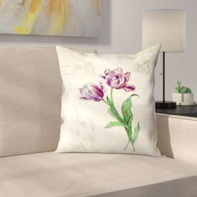 Tulips Throw Pillow Size: 20 x 20