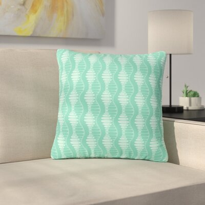 Holly Helgeson Mod Waves Pattern Outdoor Throw Pillow Size: 16 H x 16 W x 5 D