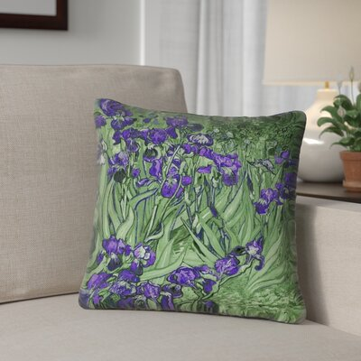 Morley Outdoor Throw Pillow Size: 18 x 18, Color: Green/Purple