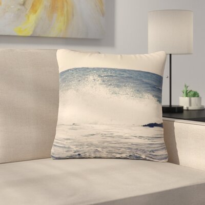 Sylvia Coomes Crashing Waves 2 Costal Outdoor Throw Pillow Size: 16