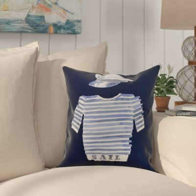 Harriet Captain Shirt Throw Pillow Color: Navy, Size: 16 x 16