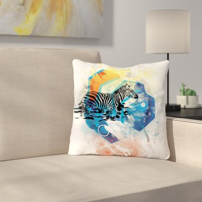Walk Off The Colors by Frederic Levy-Hadida Throw Pillow Size: 16 H x 16 W x 3 D