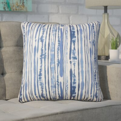 Wooten Striped Cotton Throw Pillow Color: Navy