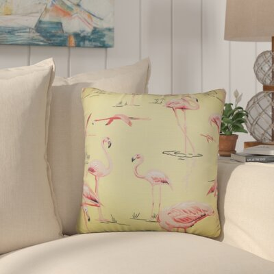 Colleen Animal Print Throw Pillow Color: Yellow, Size: 24 x 24