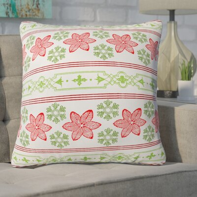 Gaylor Holiday Snowdrift Indoor/Outdoor Throw Pillow Size: Large