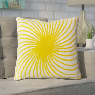 Cleanthes Throw Pillow Color: White / Yellow