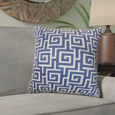 Xavia Geometric Cotton Throw Pillow Color: Blueberry