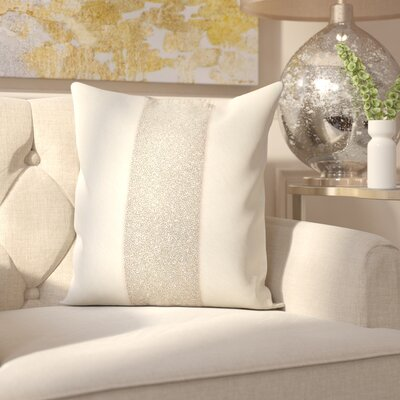 Gilbert Natural Hide Throw Pillow Color: White/Silver