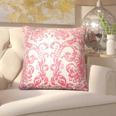Chessani Damask Cotton Throw Pillow Color: Candy Pink