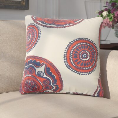 Innocenzio Floral Cotton Throw Pillow Color: Lapis