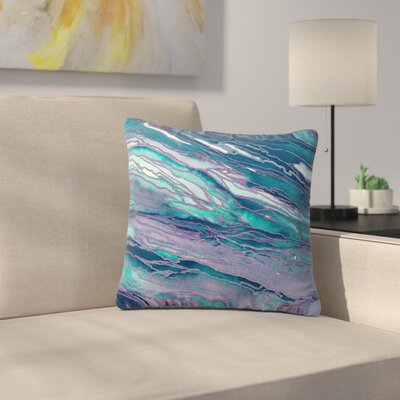 Agate Magic Throw Pillow Size: 16 H x 16 W x 6 D, Color: Lilac Teal