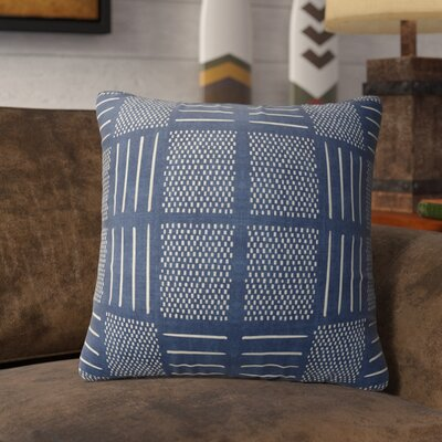Couturier Square Throw Pillow Color: Indigo, Size: 16