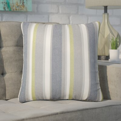 Wallin Striped Cotton Throw Pillow Color: Metal