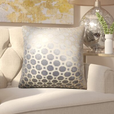 Maeve Geometric Outdoor Throw Pillow Cover Color: Gray