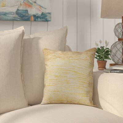 Rocio Ocean View Throw Pillow Size: 16 H x 16 W, Color: Yellow