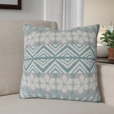 Fair Isle Throw Pillow Size: 16 H x 16 W, Color: Teal