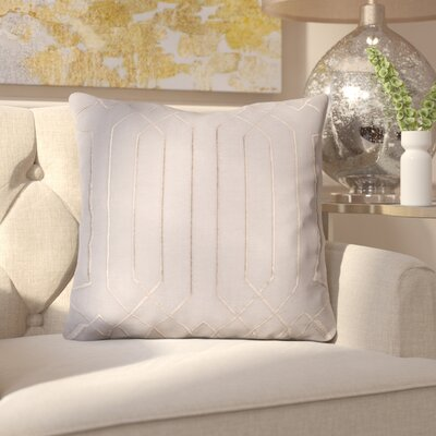 Kaivhon Traditional Linen Throw Pillow Size: 18 H x 18 W x 4 D, Color: Charcoal