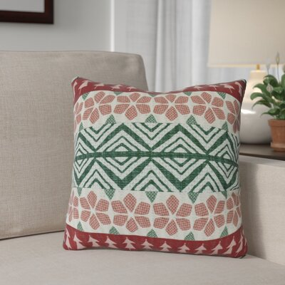 FairIsle Outdoor Throw Pillow Size: 16 H x 16 W, Color: Red