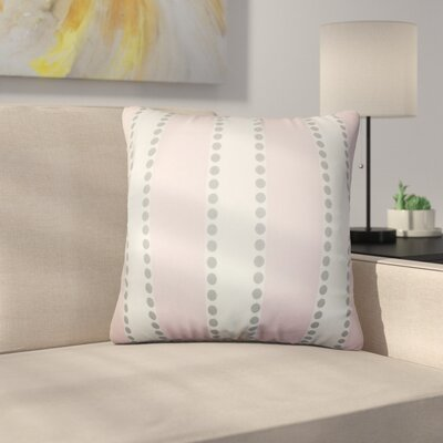 Rolston Stripes Cotton Throw Pillow Color: Pink